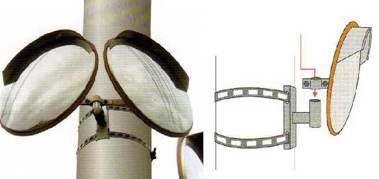 電柱にミラーを設置